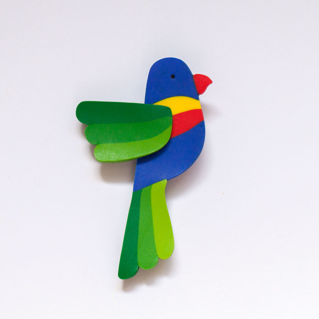 Rainbow Lorikeet Brooch (Second)