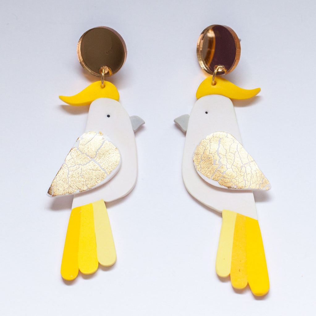Snazzy Cockatoo Earrings (Second)