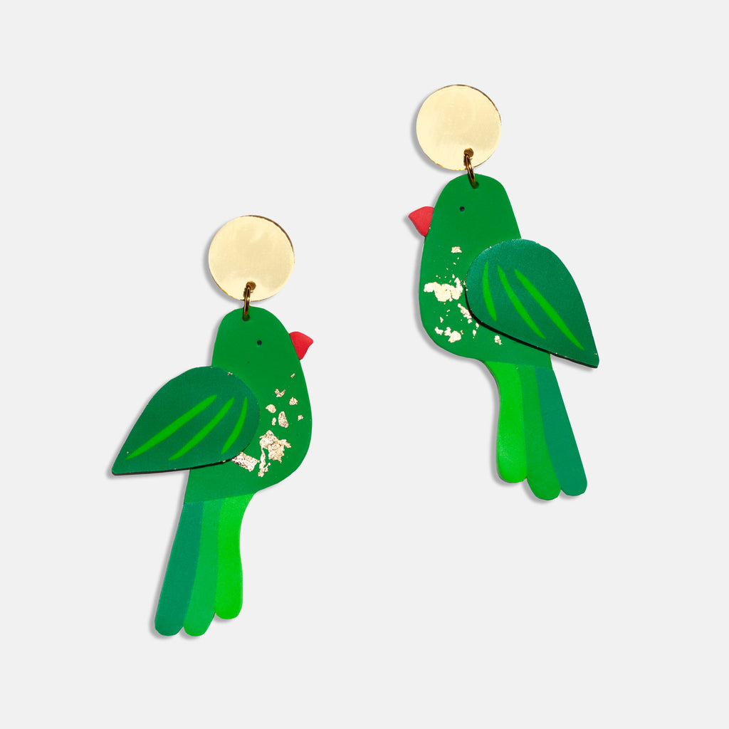 Scaly-Breasted Lorikeet Earrings