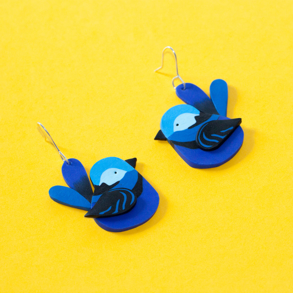 Splendid Fairy-Wren Earrings