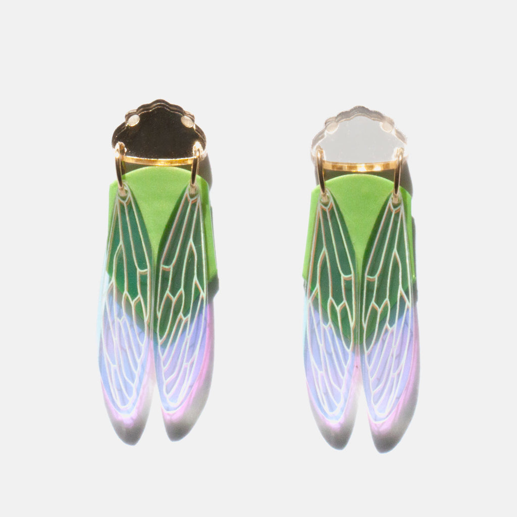 PRE-ORDER: Green Grocer Cicada Earrings - Statement