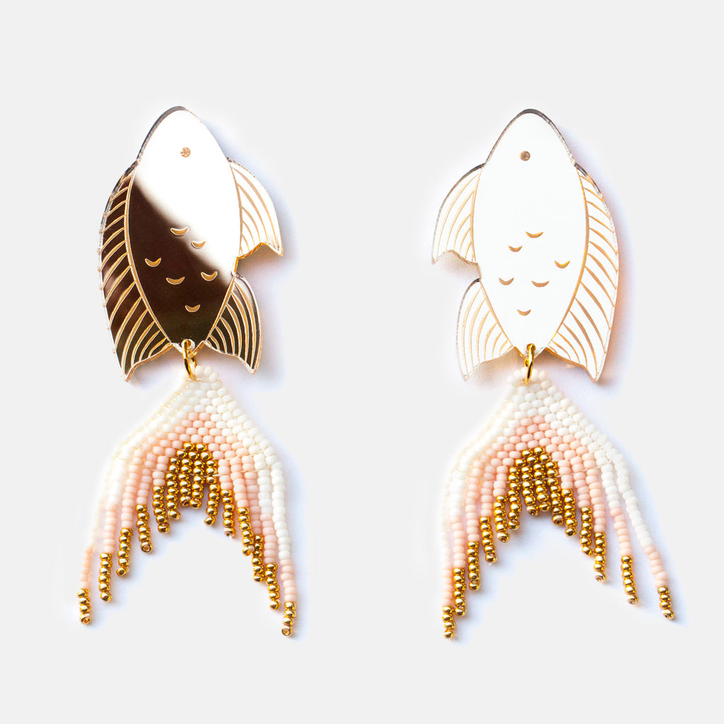 Gold Seaperch Earrings - Statement