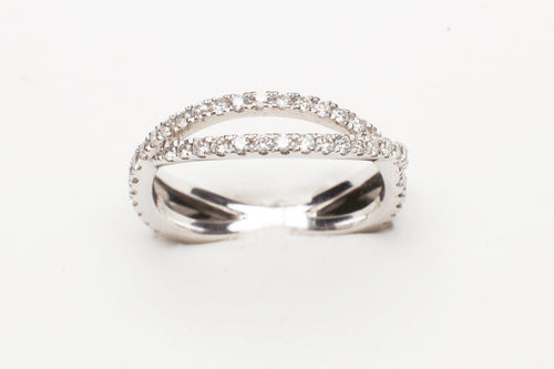 PLAT .36CTTW RD DIA CONTOUR DIAMOND BAND TO MATCH ENGAGEMENT RING