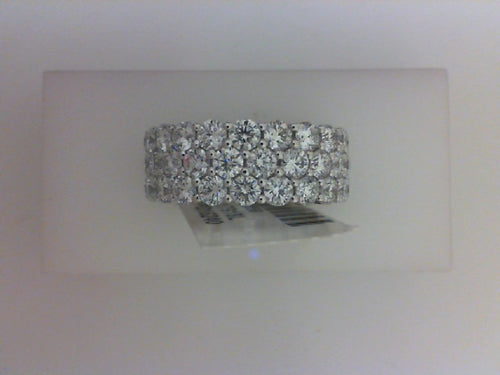 18K WG 6.07CTTW 66 RD DIA ETERNITY BAND SZ 6.5