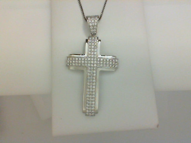 18kt wg 1.55cttw rd dia custom cross