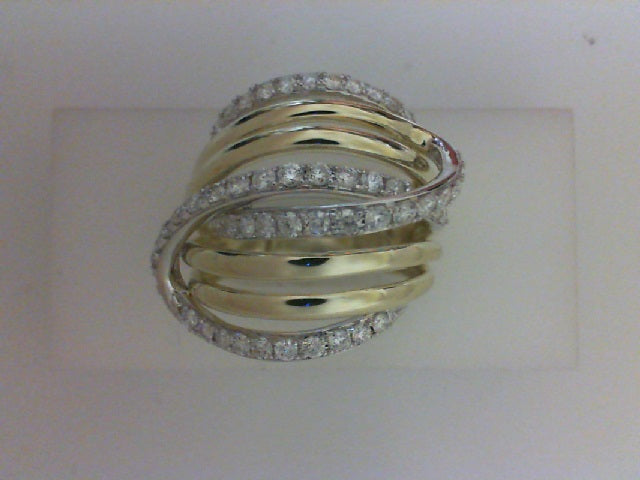 14KT TT  61 RD DIA  1.26CTTW FASHION RING