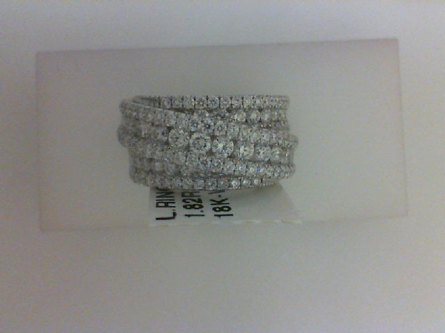 18KT WG 1.82CTTW 130 RD DIA FASHION RING