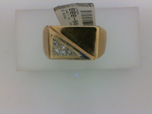 14KT YG .09CT DIAMOND RING