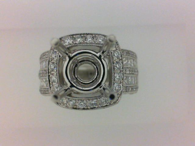 18KT WG 1.17TW 172 RD DIA/.79TW 24 PRINCESS CUT DIAMONDS