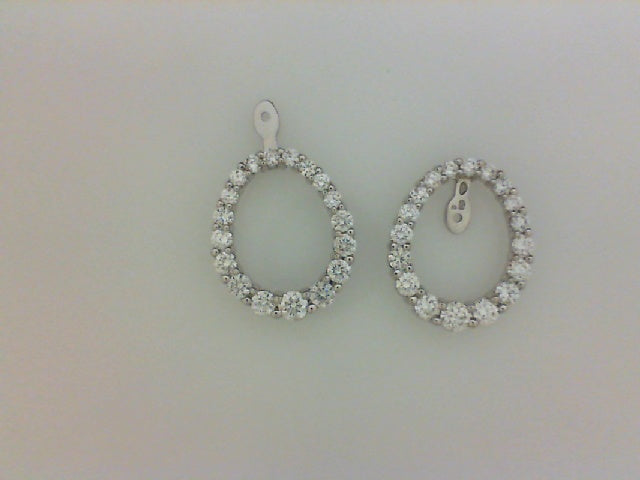 14KT WG 2.00CTTW RD DIA COVERTIBLE EARRING JACKETS
