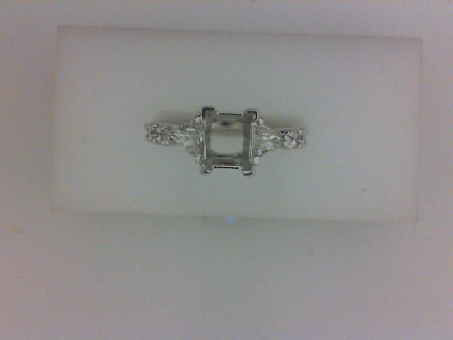 14kwg diamond mounting .37cttw trill with .19round diamonds each side prong set.
