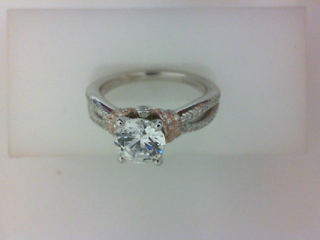 14KT WH GLD /18KT PINK .35CTTW RD DIAMOND WITH CZ CENTER