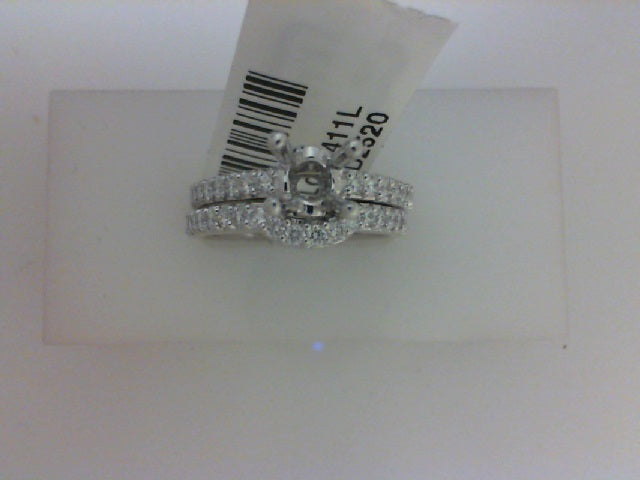 18KT WG .64CT TW - 34 RD DIA SEMI W MATCH CONTOUR DIA BAND