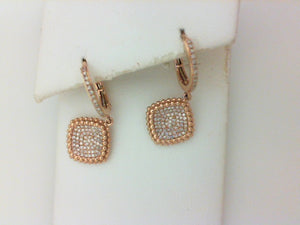 18KT RG .38CTTWRD DIA EARRINGS