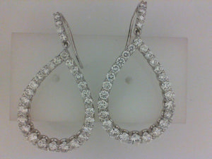 14KT WG 60 RD DIA 4.32CTTW DIAMOND EARRINGS