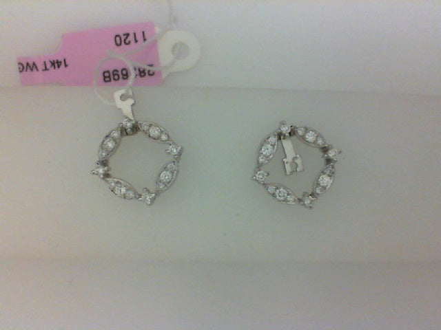 14KT WG .30CTTW DIAMOND EARRING JACKETS