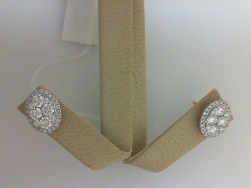 18KT WG .98CTTW - 68 RD DIA  EARRINGS