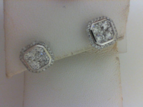 18KT WG 1.20CTTW 74 RD DIA  EARRINGS