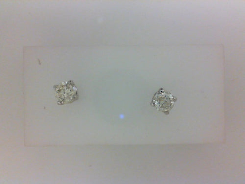 1.00CTTW 14KT WG 4 PRONG  DIAMOND STUD EARRINGS
