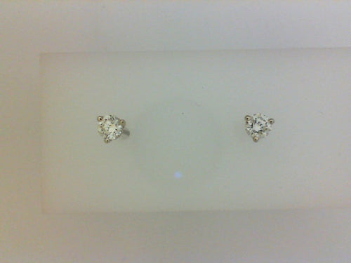 .38CTW (A) RD DIA14KT WG 3 PRONG STUD EARRING
