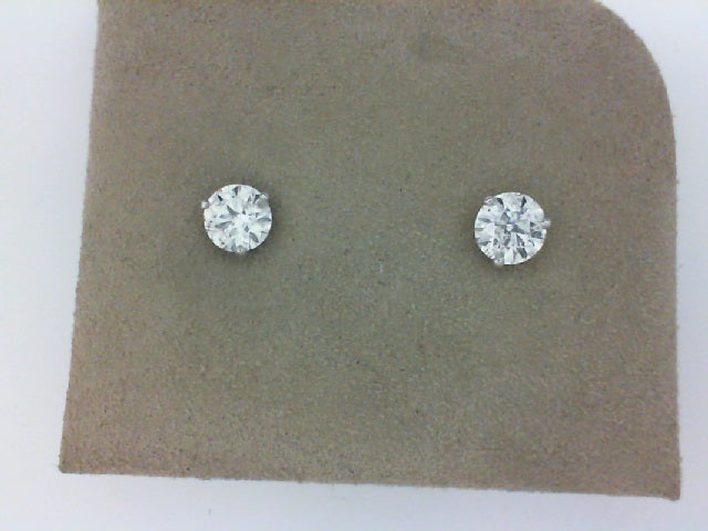 2.01 CTW (B) 14WG 3 PRONG DIAMOND STUDS