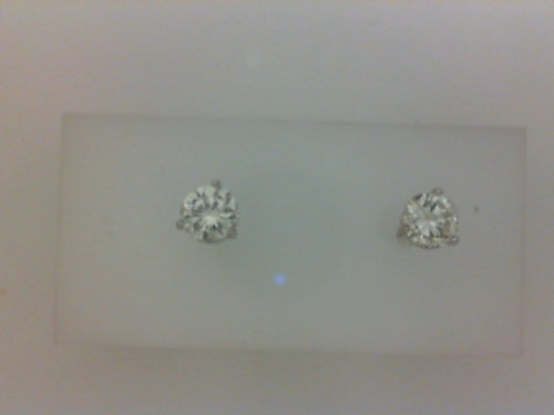 14KT WG 1.40CTW (B) RD DIA 3 PRONG STUD EARRINGS
