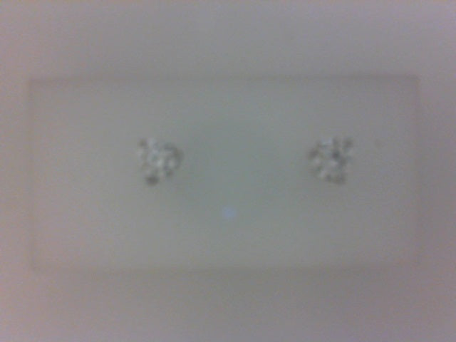 14KT WG 1.04CTW (A) RD DIA 3 PRONG EARRINGS