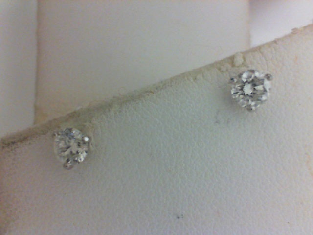 14KY WG .64CTTW RD DIA 3 PRONG STUDS