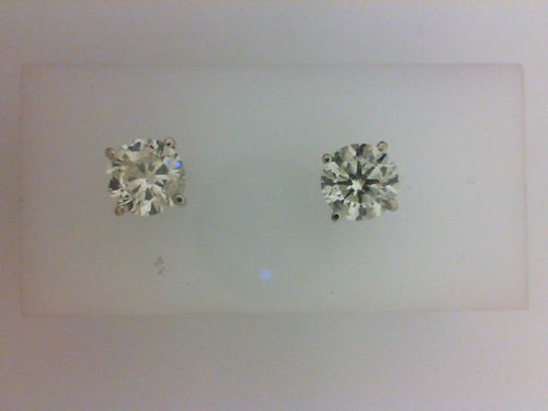 3.02CTTW K SI3 RD DIA EARRINGS WITH SCREW BACKS