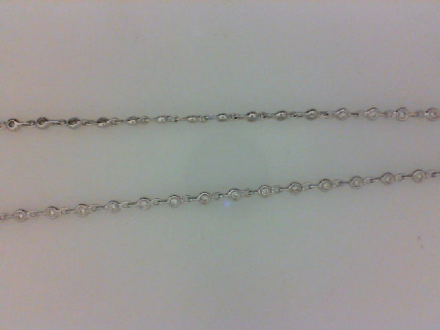 18KT WG .79CTTW 98 RD DIA CHAIN 20