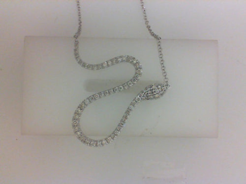 14KT WH .42CTTW RD DIA SNAKE NECKLACE
