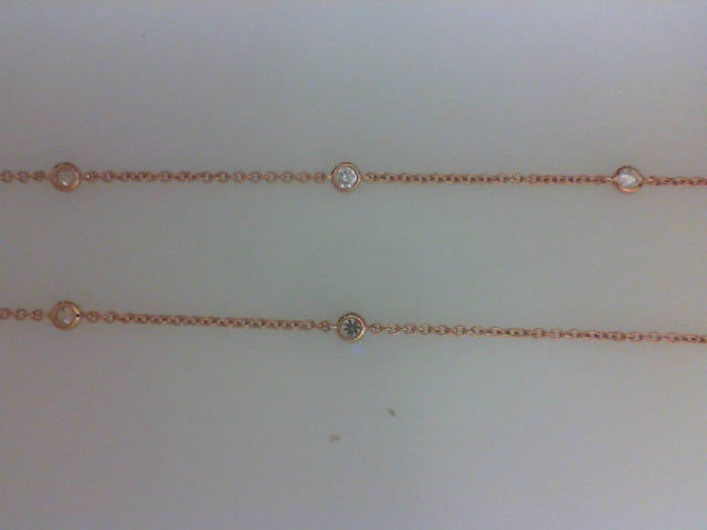 18K RG .50CTTW 10 RD DIA BY THE YARD NECKALCE
