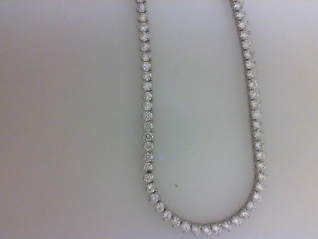 18K WG 7.02CTTW 180 RD DIA NECKLACE