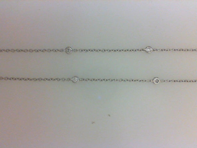 18K WG  .26CTTW 10RD DIA NECKLACE