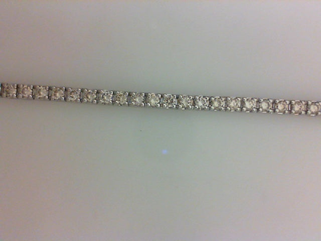4.91CTTW RD DIA WG DIAMOND TENNIS BRACELET 48 diamonds