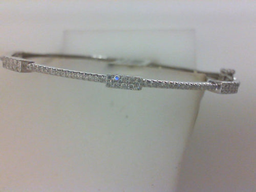 14KT .29CTTW 78RD DIA BANGLE