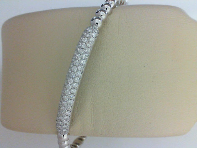 18KT WG .74CTTW RD DIA BANGLE BRACELET