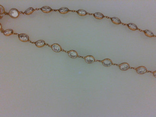 14KT ROSE GOLD CZ NECKLACE  18
