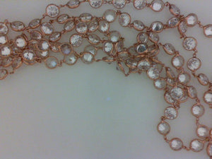 14KT ROSE GOLD CZ NECKLACE  36""