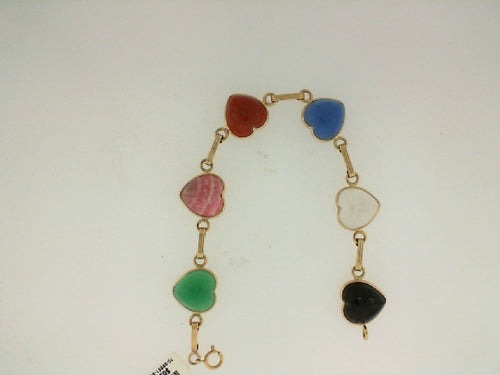 SCARAB HEART SHAPED 14KT BRACELET