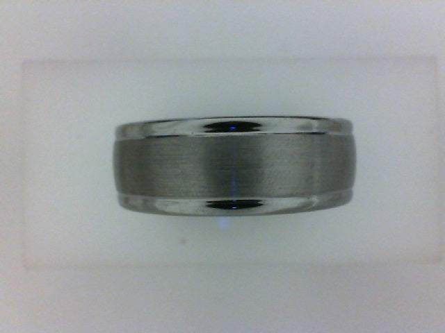 TUNGSTEN 8MM SATIN CENTER W POL EDGES