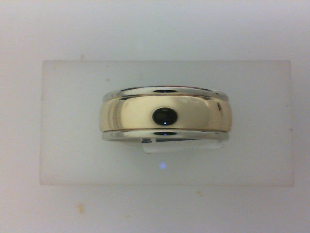 14KT TT 8MM HIGH POLISH BAND