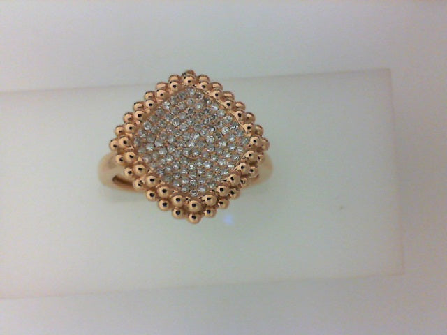 18KT RG W .22CTTW RD DIA RING