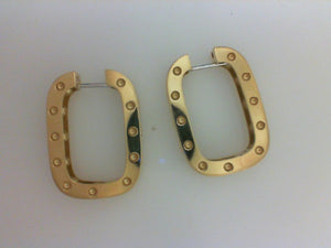 18K  YG POIS MOI SQ EARRINGS