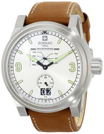 ZMX 4 SILVER DIAL WITH BROWN STRAP
