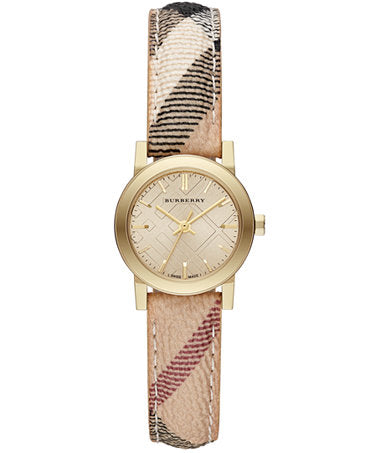 LDS YELL DIAL WITH BURBERRY STRAP