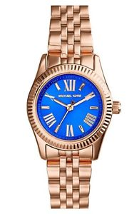 RD ROSE BRACELET WITH BLU DIAL