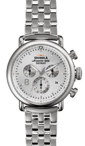 RUNWELL CHRONO CONTRAST 41MM SILVER DIAL 20MM LINK BRACELET