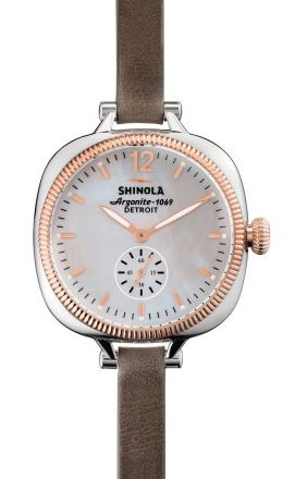 GOMELSKY 36MM WH DIAL 8MM HEATHER GREY STRAP
