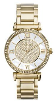 LDS QRTZ YELL TONE WITH MOP & CRYSTAL DIAL/ CRY BEZEL